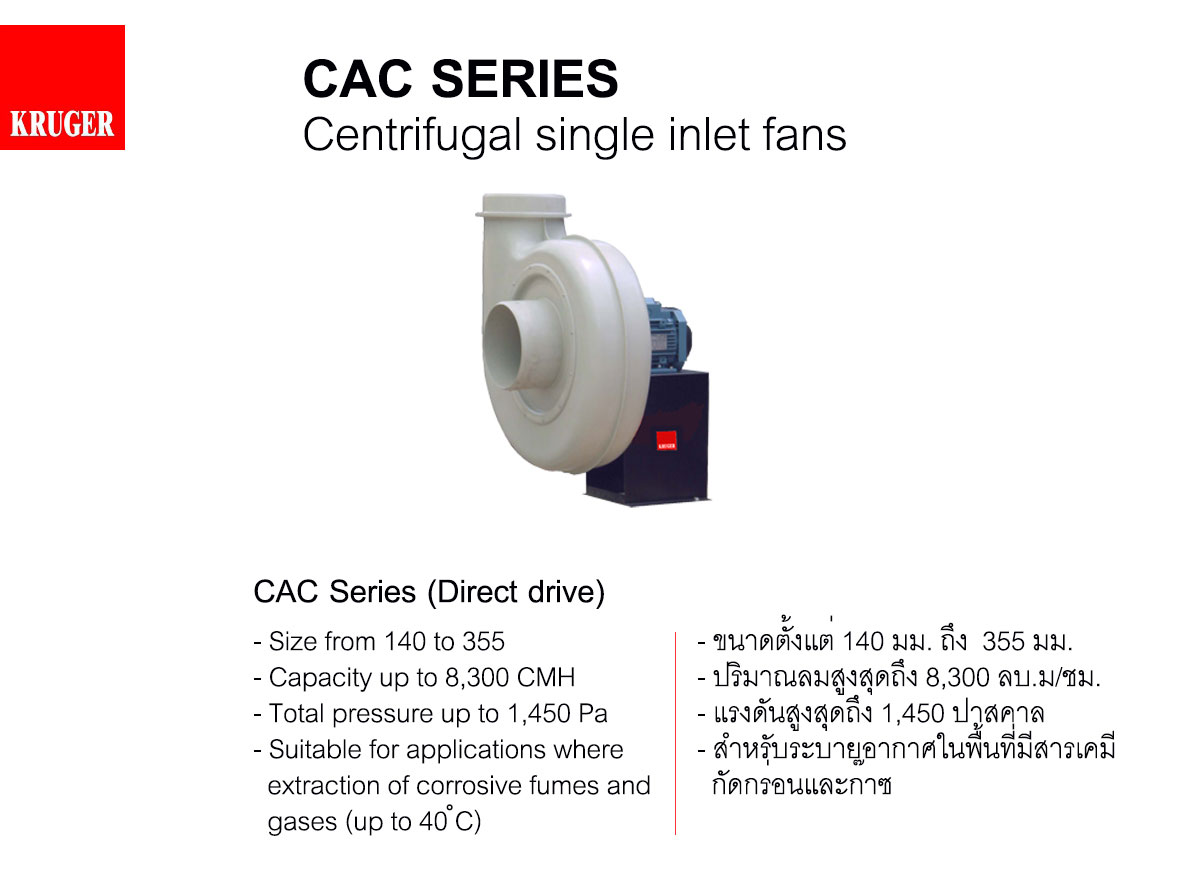 KRUGER FAN,CAC Series